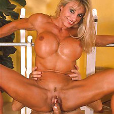 champion female bodybuilder francesca petitjean, reputedly the biggest clit ever in porn